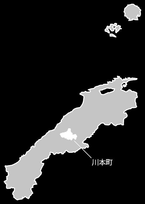 島根県の中の川本町の位置