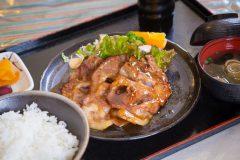 写真2:石見ポークの生姜焼き定食を選択