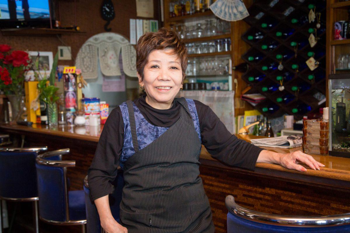 写真1:喫茶ボンのママさん