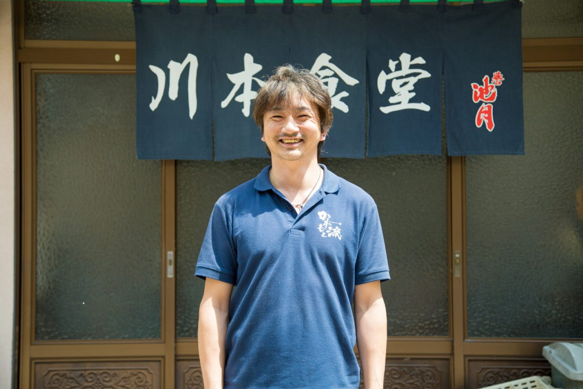 写真1:川本食堂の店主