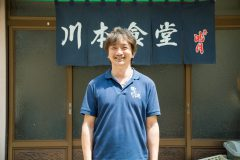 写真1:川本食堂の店主を選択